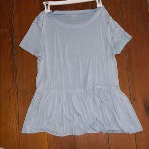 Target blue babydoll style t shirt
